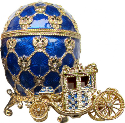 95 mm Imperial Coach and Dark Blue Imperial Coronation Easter Egg