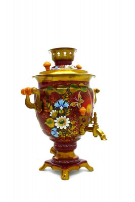 Summer Hand Painted Electric Samovar Kettle