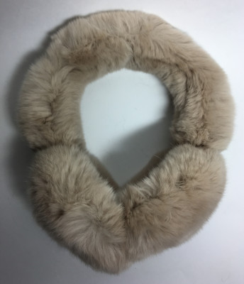 Light Brown Rabbit Hair Earmuff (by Skazka Furs)