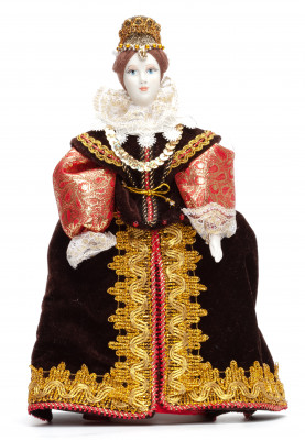 Spanish Girl hand made Porcelain Doll - 11 Inches (by Le Russe)