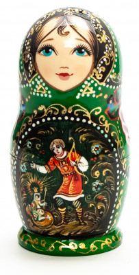 110 mm The Frog Princess hand painted on wooden Matryoshka doll 5 pcs (by A Studio)