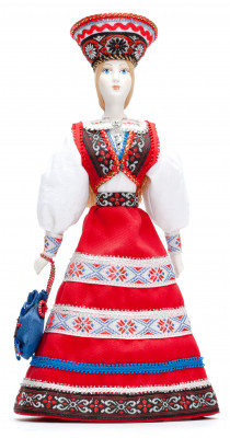 Estonian Beauty hand made Porcelain Doll in Kokoshnik - 11 Inches (by Le Russe)