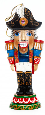 140mm The Nutcraker hand carved and painted wooden Statue (by Andrey Crafts)