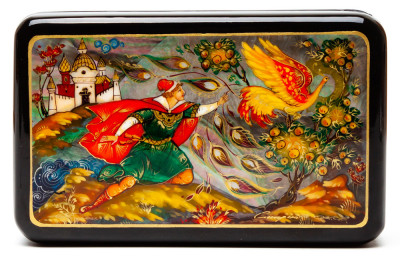 130x80 The Firebird Hand Painted Jewellery Box (by Pavel Studio)