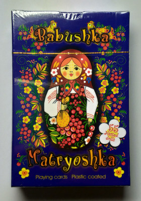 Matryoshka Playing Cards Blue