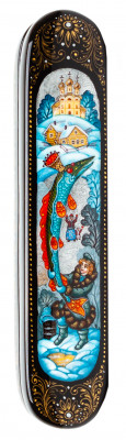 160x30mm At The Pike's BehestHand Painted Jewellery Box (by Sadko Workshop)