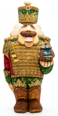 350 mm Nutcraker Hand Carved and Painted Wooden Figurine with Gift Box