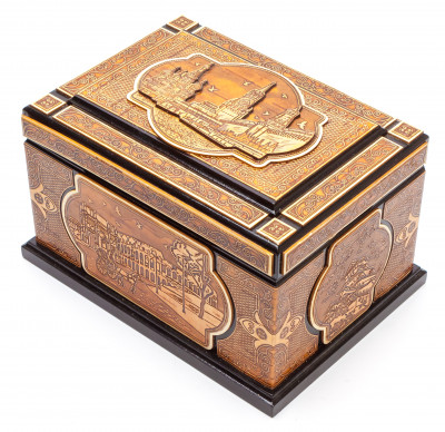 190x140 mm Moscow Kremlin hand made Birchbark Jewelry Box (by Maxim Birch)