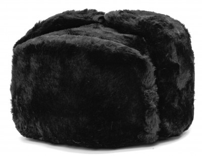 Russian Ushanka Winter Hat (black, any size)