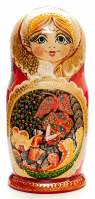 260 mm The Firebird handpainted Wooden Matryoshka Doll 10 pcs (by Valery Crafts)
