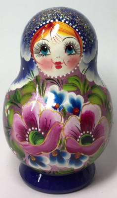 120 mm Maidan Patterns hand painted Wooden Matryoshka Doll 5 pcs (by Mihail Matryoshka Studio)