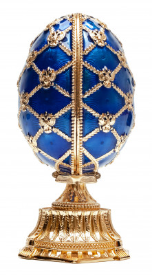 115 mm Blue Easter Egg with the Crown