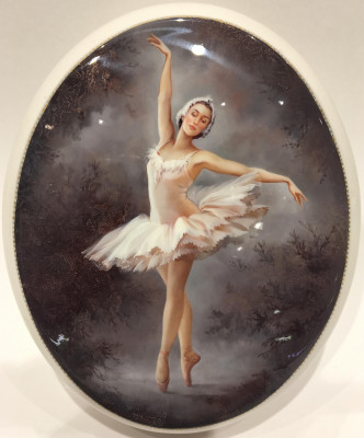 120x160 mm Ballerina Hand Painted Jewellery papier-mache Box (by G Studio)