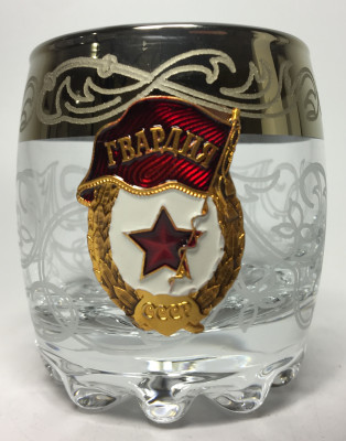 80 ml USSR Guards Crystall Glass Shot Glass