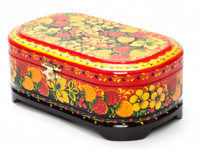 Khokhloma Painting Jewellery Wooden Box 170x100 mm