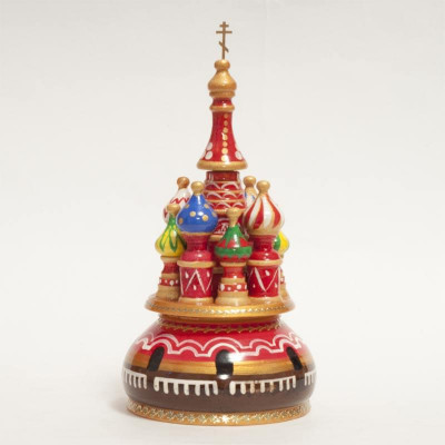 230 mm Saint Basil's Cathedral hand painted Wooden Music Box (by Nightingale Crafts)