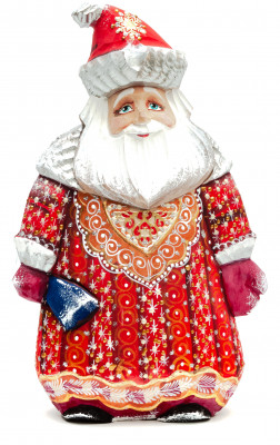 200 mm Santa Claus with a bag of gifts (by Igor Carved Wooden Figures Studio)