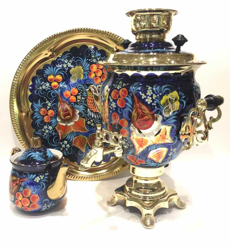 Phoenix Electric Samovar Kettlewith Teapot and Tray
