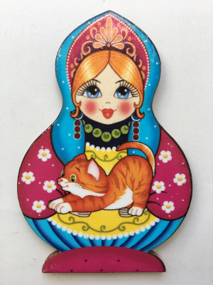 Matryoshka and Red Kitten