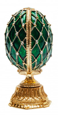 90 mm Green Double Lattice Easter Egg with the Basket