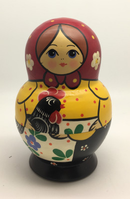 Russian Tradithional Hand Painted Matryoshka Doll 10pcs