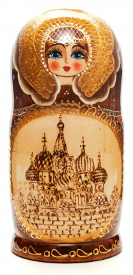 200 mm Moscow Saint Basil Cathedral hand painted Matryoshka Doll 7 pcs inside  (by Valery Studio)