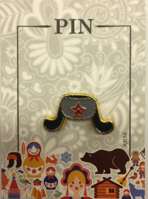 Ushanka Metal Pin (by AKM Gifts)