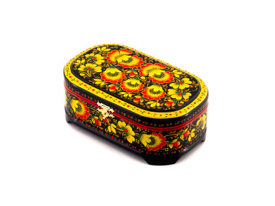 Khokhloma Painting Jewellery Wooden Box 170x100mm