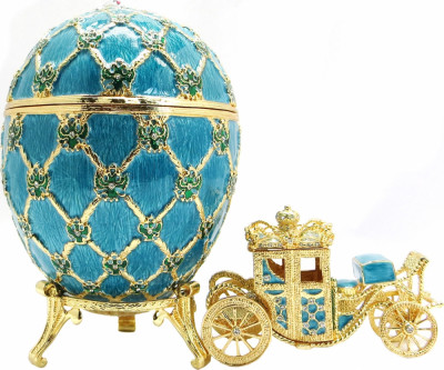 145 mm Imperial Coach and Blue Imperial Coronation Easter Egg