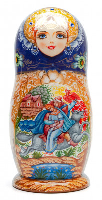 200 mm The Firebird hand painted Wooden Matryoshka doll 5 pcs inside