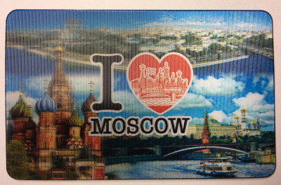 I Love Moscow 3D Hologram Fridge Magnet (by AKM Gifts)