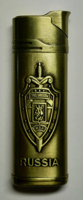 Moscow City Police Gas Metal Lighter (by Sergio Accendino)