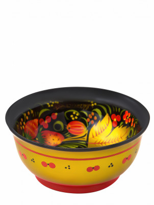 45x100 mm Khokhloma hand painted wooden Sugar Bowl (by Golden Khokhloma)