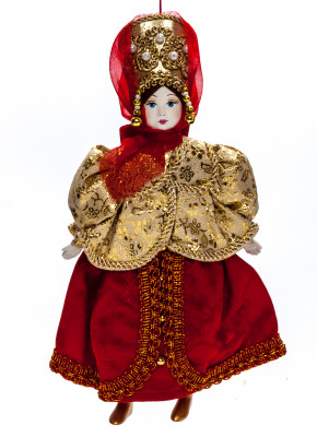240 mm Porcelain Doll in a Russian Dress (by Le Russe)