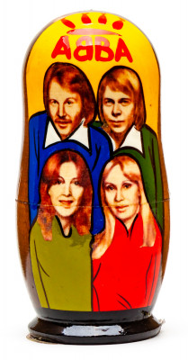 110mm Abba Hand Painted Matryoshka Doll 5 pcs (by Konstantin Celebrities)