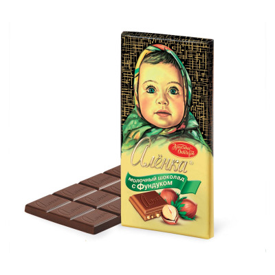 Alenka Hazelnut Russian Milk Chocolate (100 g)