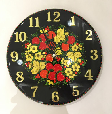 Khokhloma handpainted Wall Clock