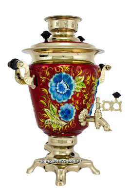 Cornflowers Hand Painted Electric Samovar Kettle