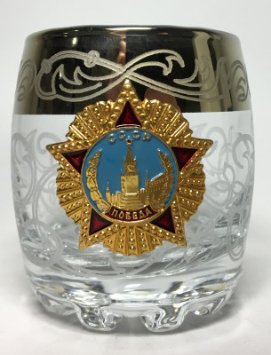 80 ml Order of Victory USSR Crystall Glass Shot Glass