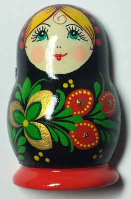 40x60 mm Khokhloma Patterns Hand Painted Russian Doll fridge magnet (by Elena Maidan Dolls Crafts)