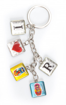 I Love Rus Metal Key Chain (by AKM Gifts)