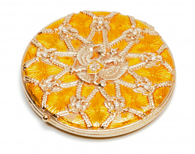 70 mm Royal Eagle Yellow Compact Mirror