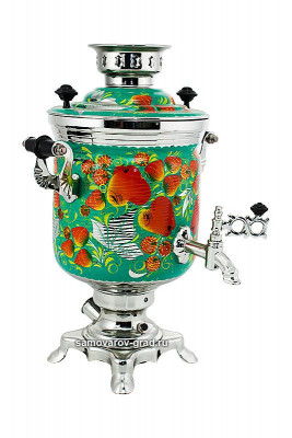Apple Hand Painted Electric Samovar Kettle
