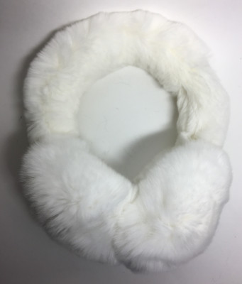 White Rabbit Hair Earmuff (by Skazka Furs)