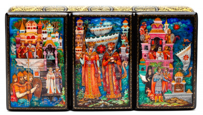 240x120mm Russian Fairytale Hand Painted Jewellery Box (by Sadko Workshop)