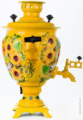 Country Rooster Hand Painted Electric Samovar Kettle