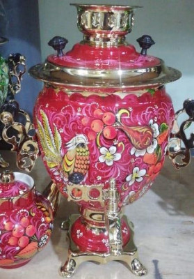 Phoenix Hand Painted Electric Samovar Kettle