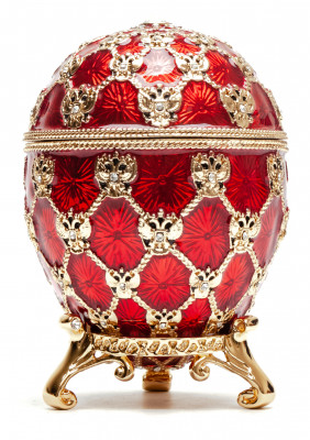 96 mm Imperial Coach and Red Imperial Coronation Easter Egg