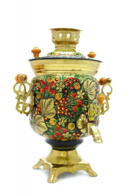 Summer Berries Hand Painted Electric Samovar Kettle