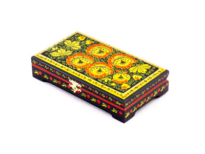 Khokhloma Painting Jewellery Wooden Box 180x100mm